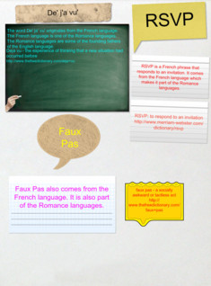 Language Arts Foreign Phrases Homework
