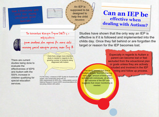 How Effective are IEPS for young children with Autism?