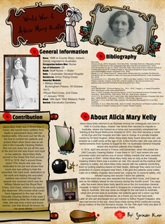 World War I; Alicia Mary Kelly