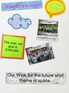 Walk for the Future 2013 poster