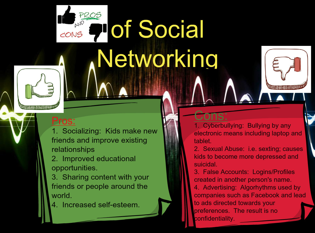 Pros/Cons Social Networking