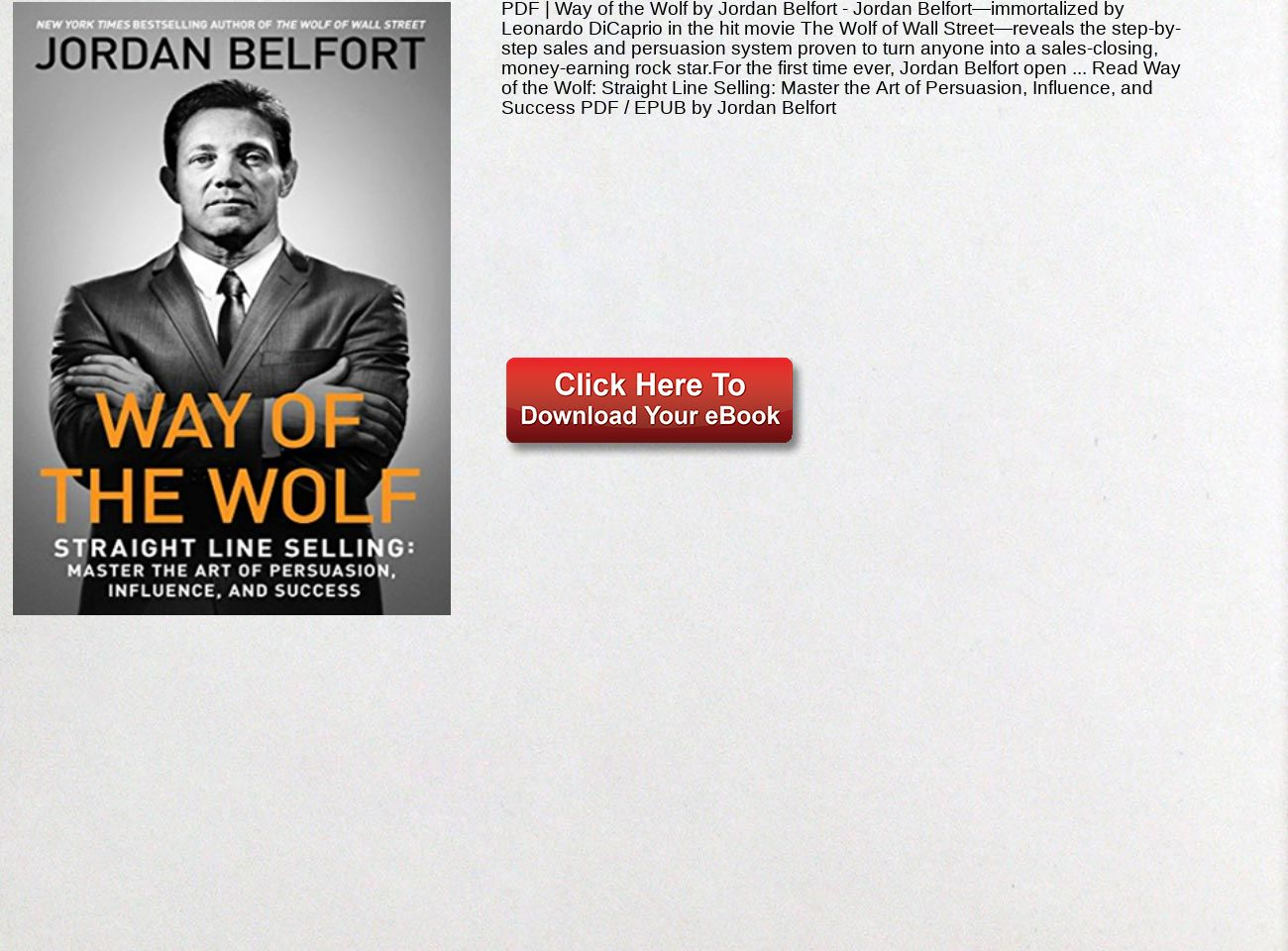 various colors cheapest online retailer PDF Way of the Wolf Jordan Belfort Straight Line Selling ...