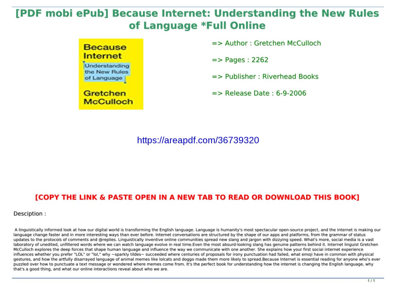 Download Pdf Because Internet Understanding The New Rules Of Language Full Online Text Images Music Video Glogster Edu Interactive Multimedia Posters