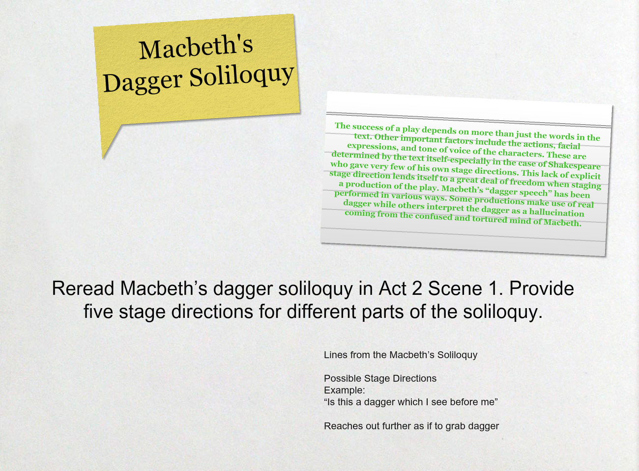 macbeth dagger speech