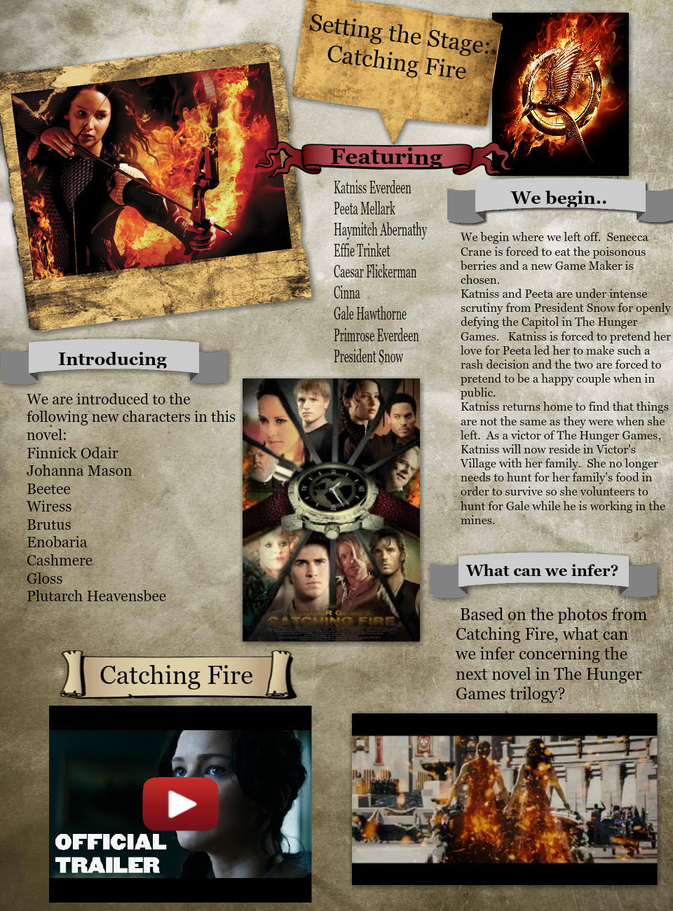 Setting the Stage:  Catching Fire