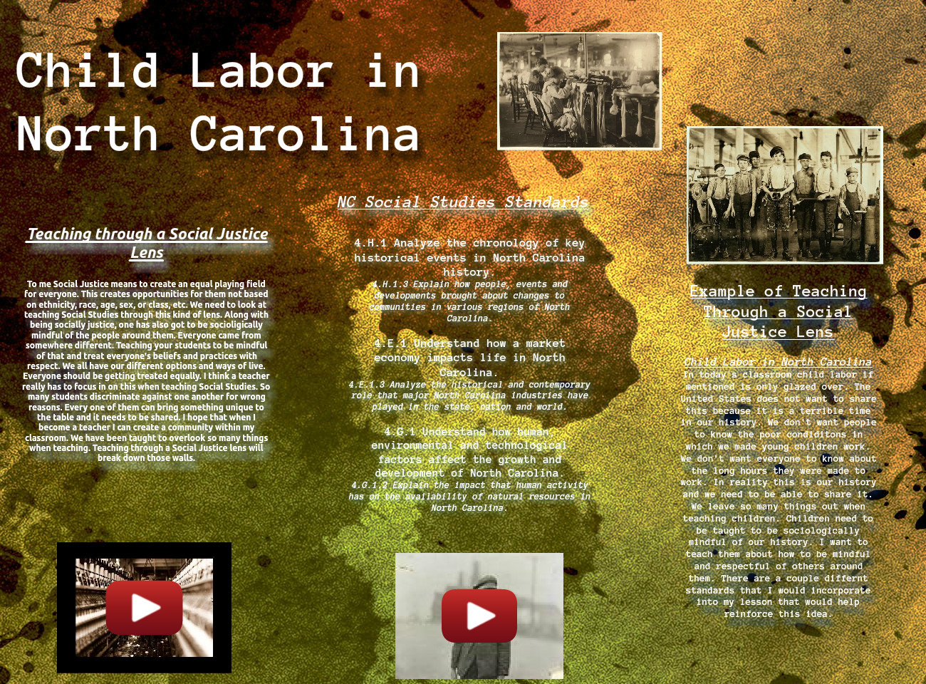 Child Labor in North Carolina