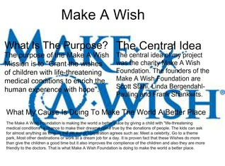 Make A Wish Foundation English Project