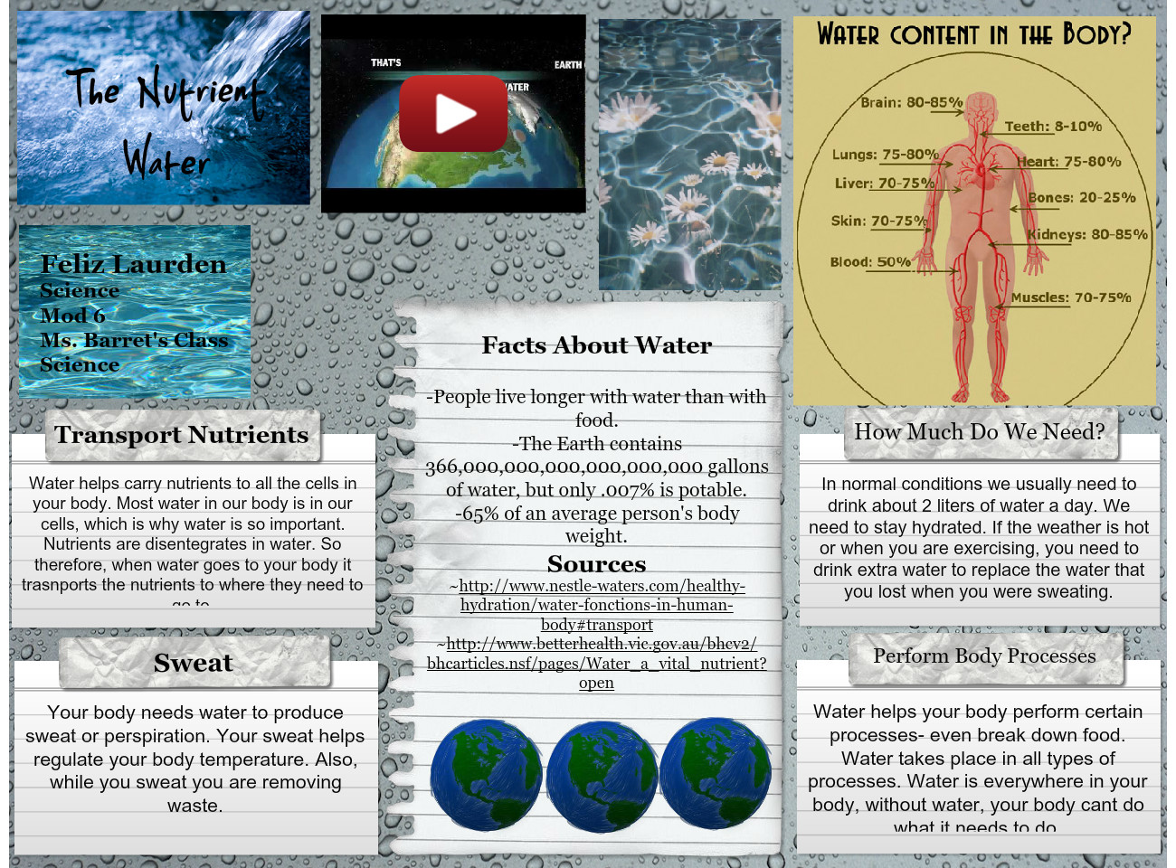 The Nutrient Water