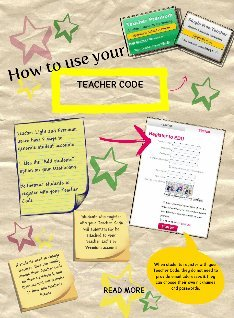 How to use your Teacher Code