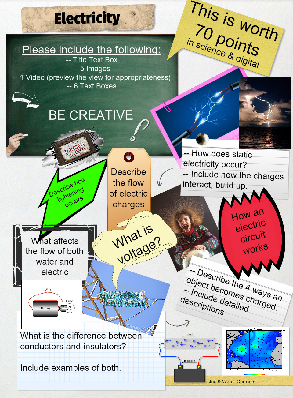 Electricity Text Images Music Video Glogster Edu Interactive How Does Electric Circuit Work Multimedia Posters