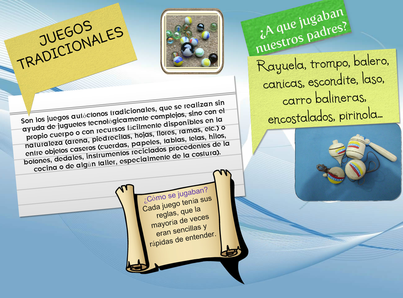 Juegos Tradicionales Text Images Music Video Glogster Edu
