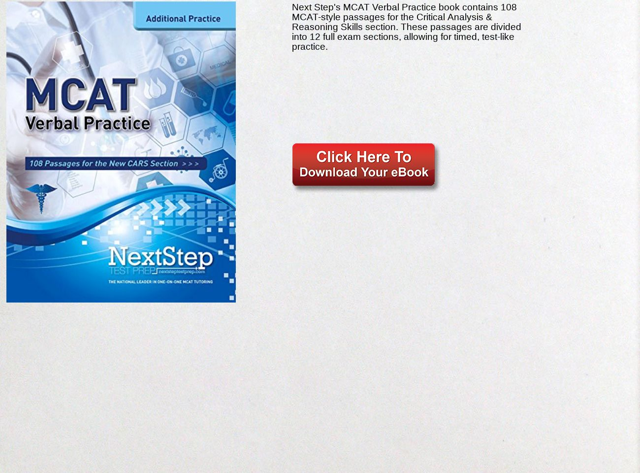 Download Ebook MCAT Verbal Practice: 108 Passages for the New CARS