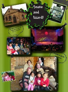 Snake and lizard show