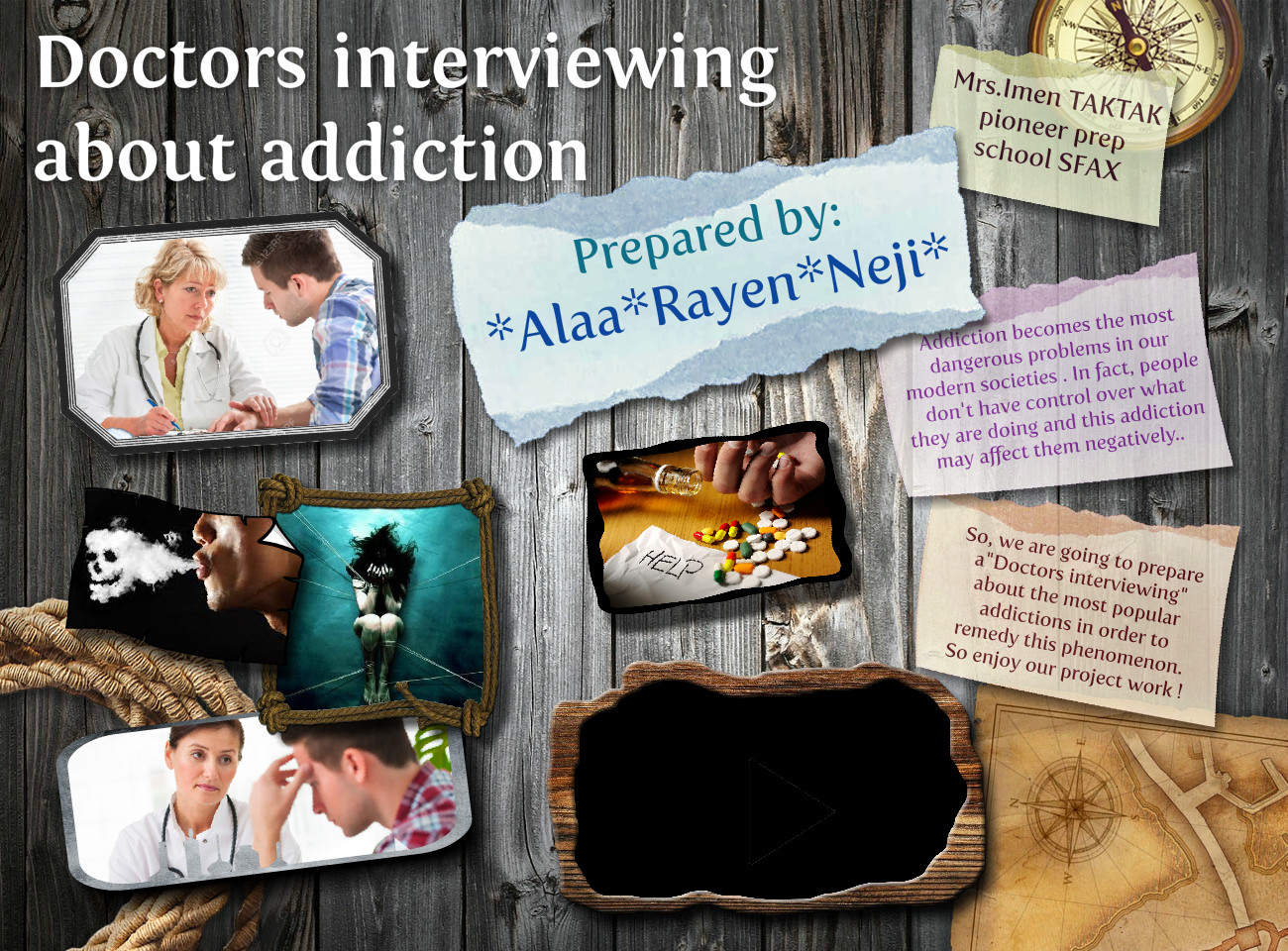 Doctors interviewing about addiction