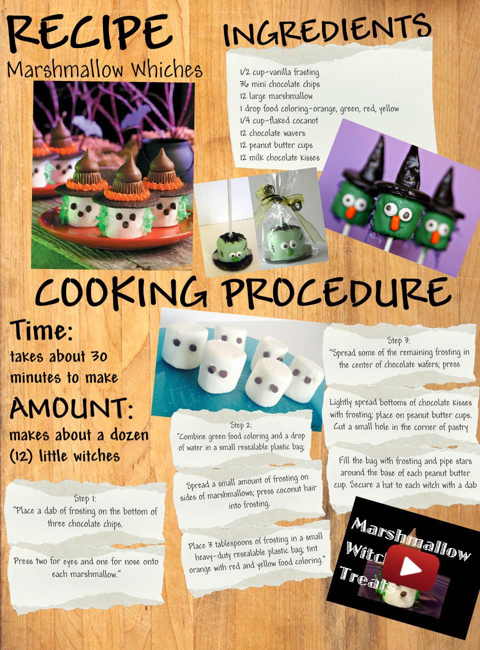 Recipe: Marshmallow Witches