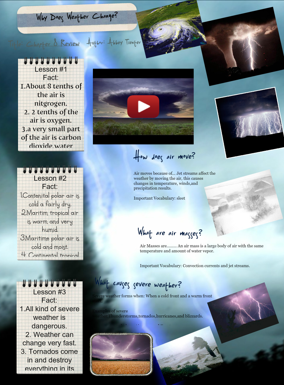 [2014] abbey tienter (5th Grade Reading, 5th Grade Science): Why does Weather Change?