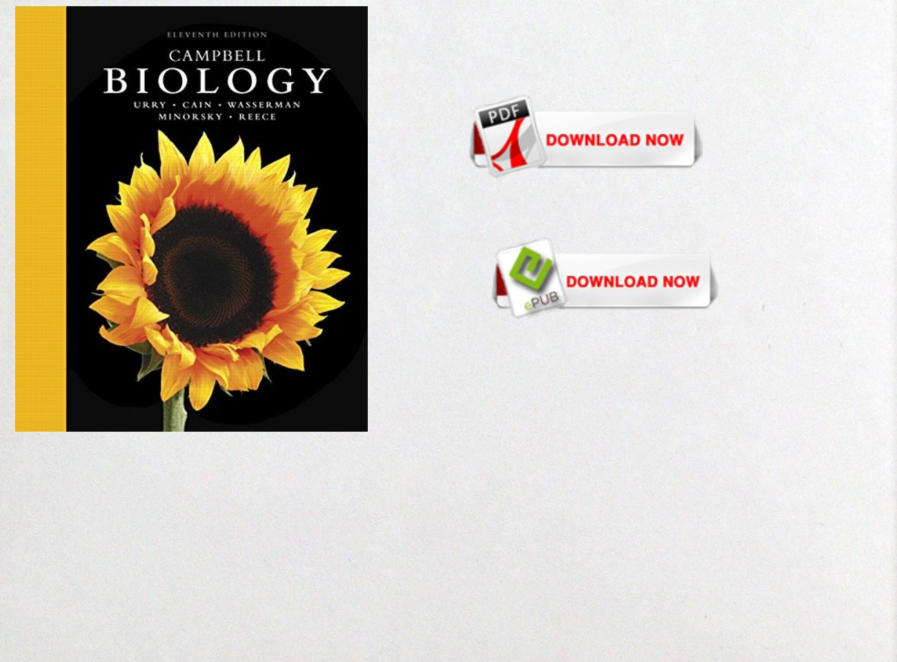 Free Download Pdf Ebook Campbell Biology 11th Edition Text