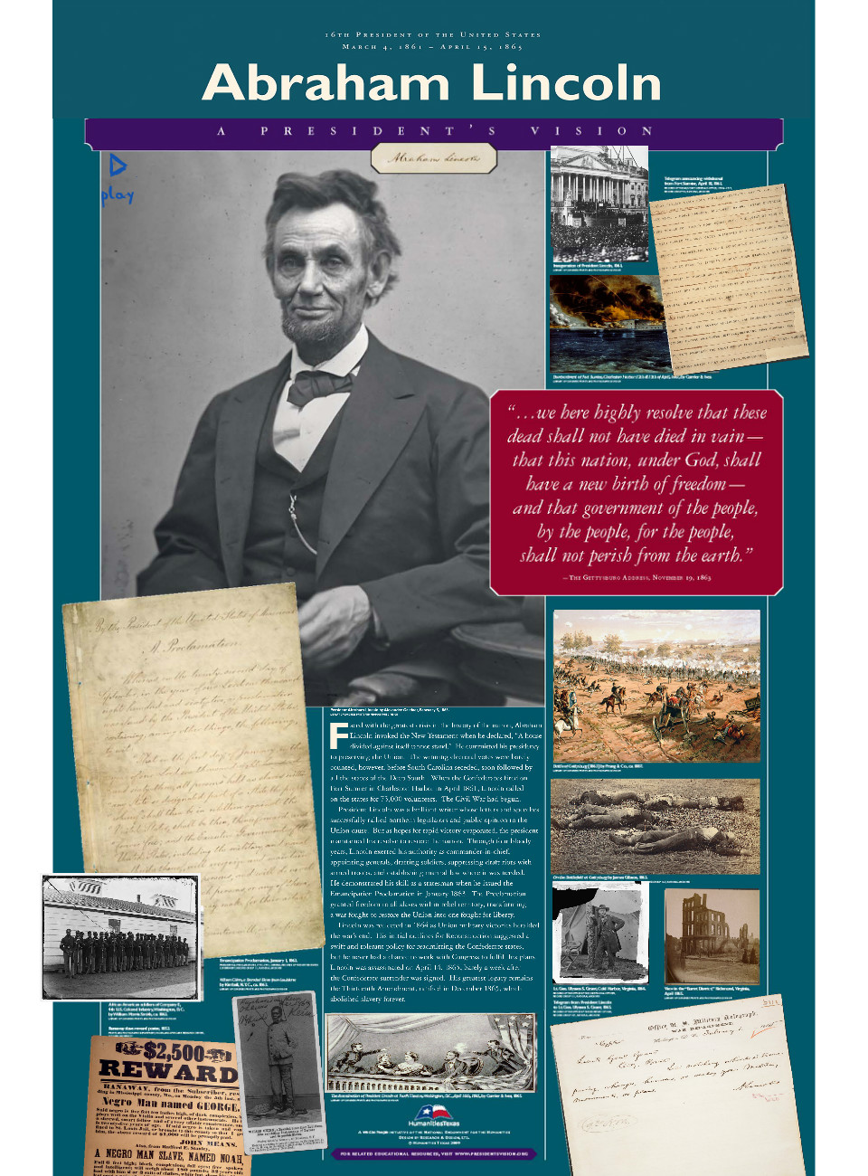 an introduction to the history of lincoln at gettysburg • name three important concepts lincoln laid out in the gettysburg address introduction abraham lincoln presidential library and ments in us history.