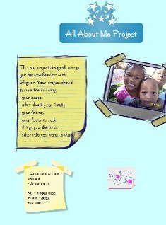 All About Me Project Template
