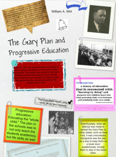 The Gary Plan and Progressive Education