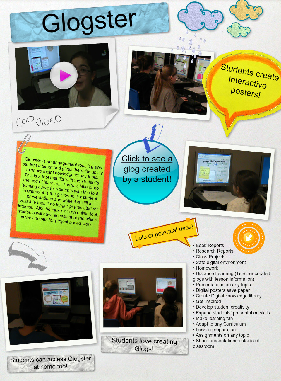 Using Glogster! : text, images, music, video   Glogster EDU