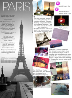 The Eiffel tower Project (P3)Min Jeong Woo, Constanza Aceves, Max Monical