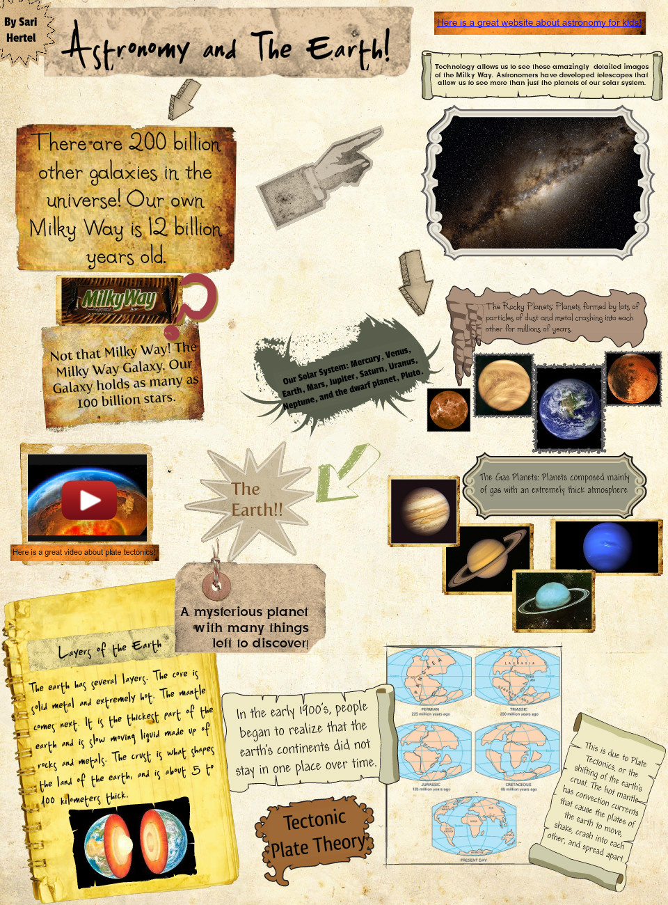 Astronomy and the Earth