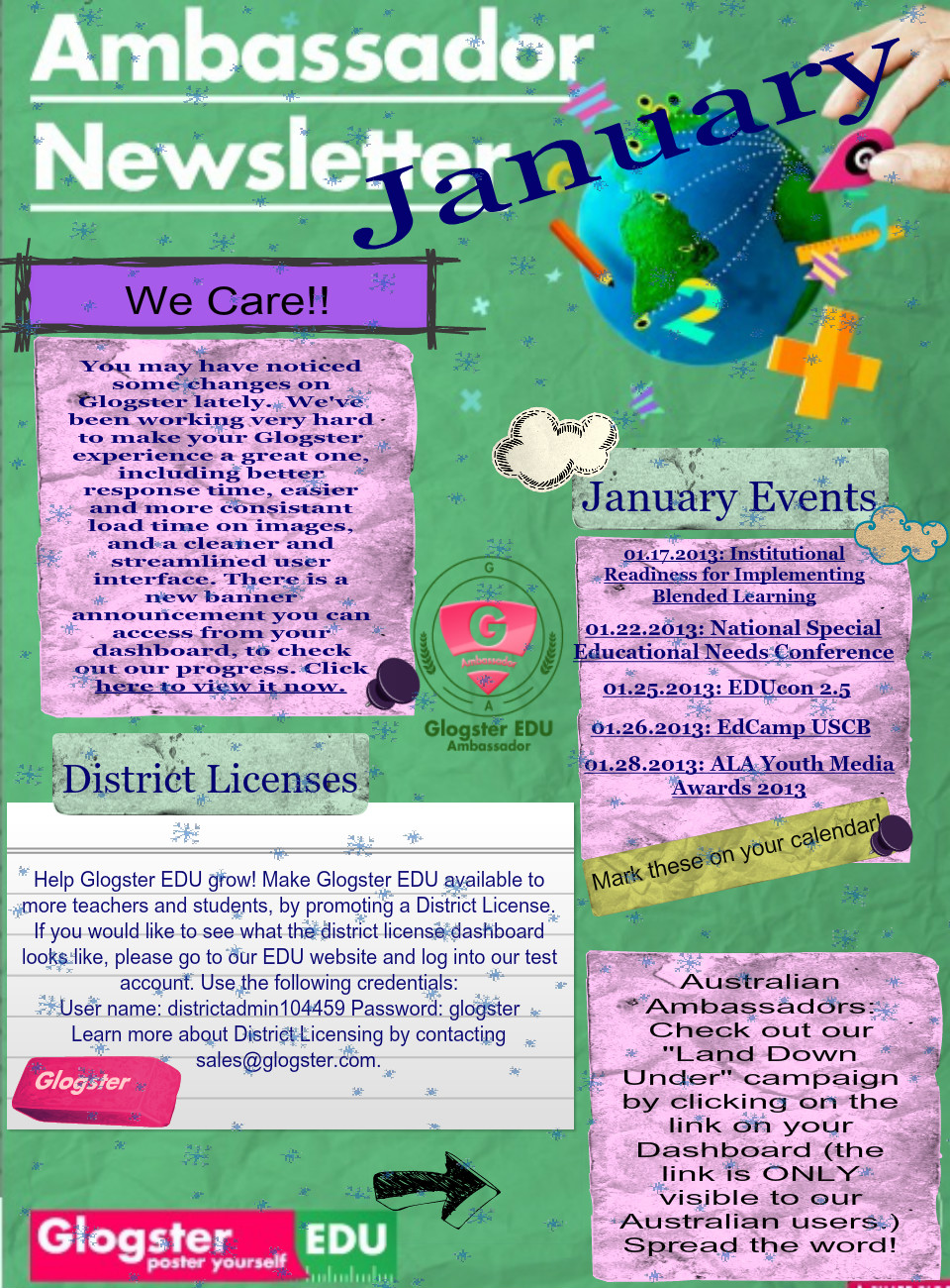 Ambassador Newsletter January 2013's thumbnail