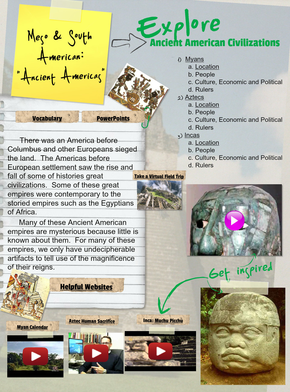 Ancient American Civilizations,Assignment (Ancient History)