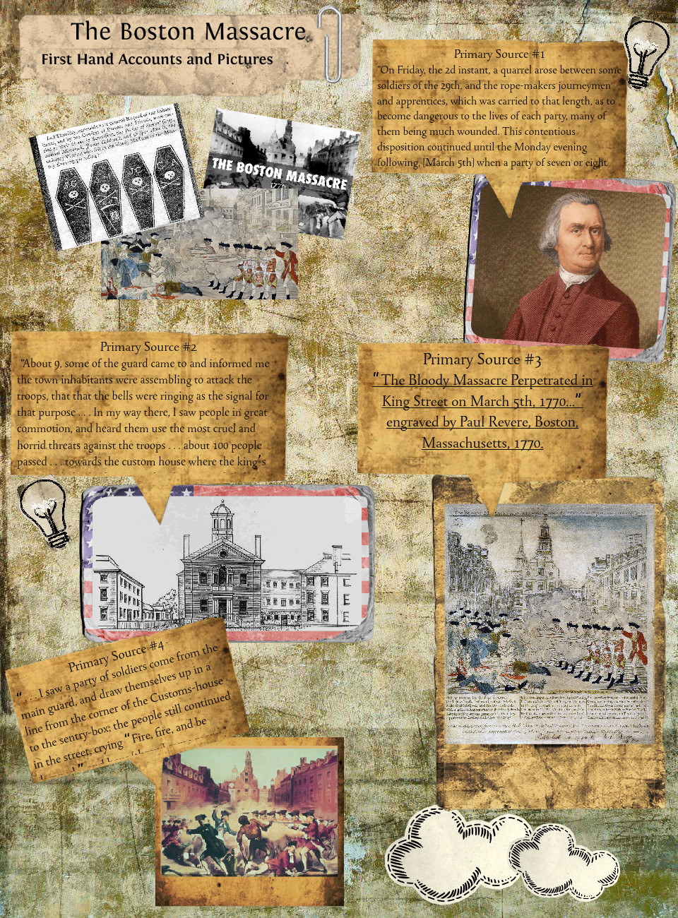 The Boston Massacre First Hand Accounts and Pictures