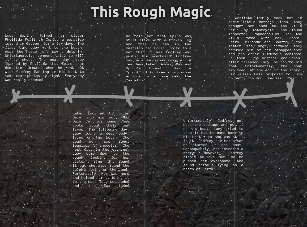 This Rough Magic: text, images, music, video | Glogster EDU