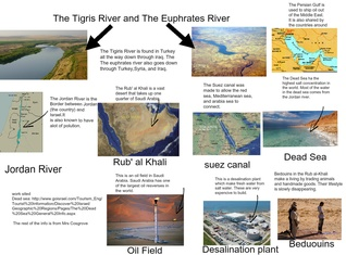 The Tigris River and Euphrates River