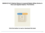 [P.D.F Download] Optical Waves in Layered Media (Wiley Series in Pure and Applied Optics) *Full Onli's thumbnail