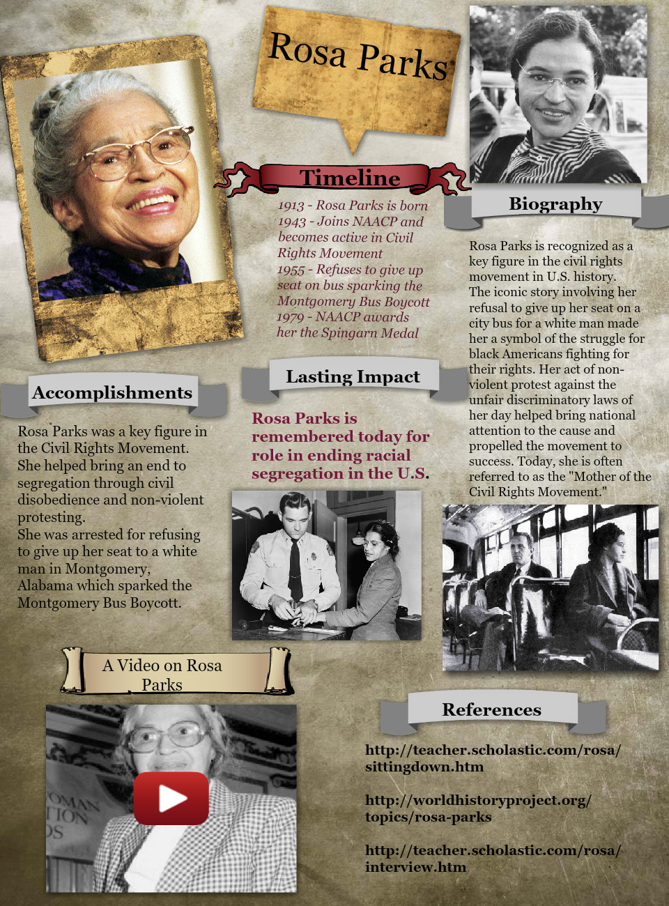 A Biography on Rosa Parks